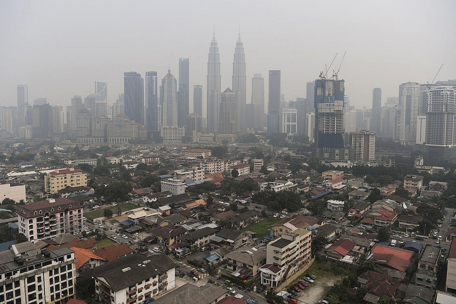A model of the redevelopment plan for Kampung Baru with new tall towers (in dark brown). The government plans to build 45,000 residential units through the development. At present, there are between 3,500 and 4,500 residential units in the enclave, w