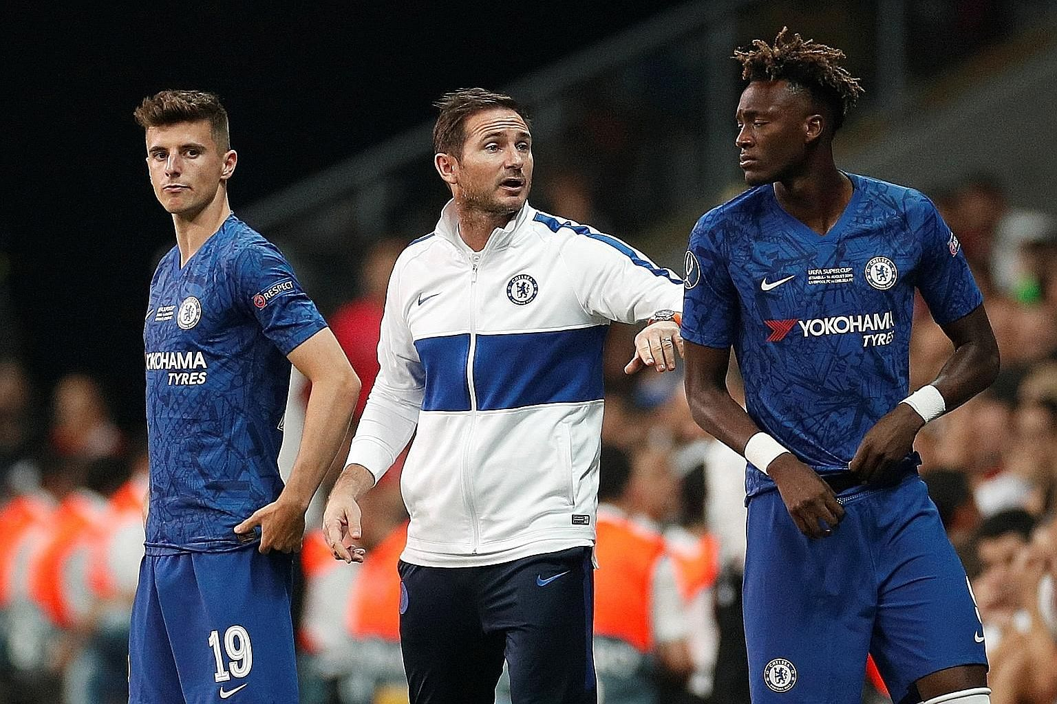 Youngsters like Mason Mount (far left) and Tammy Abraham have been able to shine under new Chelsea manager Frank Lampard, who was bound by a transfer ban from signing players.