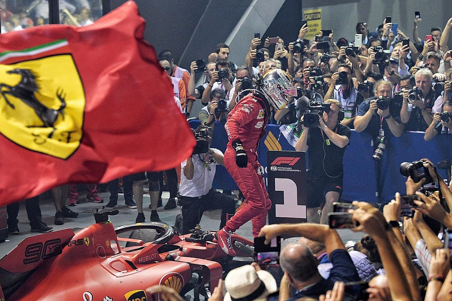 Sebastian Vettel's winless drought goes way back to the Belgian Grand Prix in August last year. The Ferrari driver's Singapore GP victory, his first since 2015, is his 53rd grand prix success.