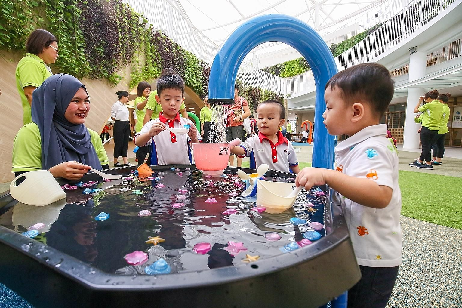 A PAP Community Foundation Sparkletots pre-school in Punggol North. The Singapore Government has invested significantly in pre-school education as these formative years are key to a child's development, says Deputy Prime Minister and Finance Minister