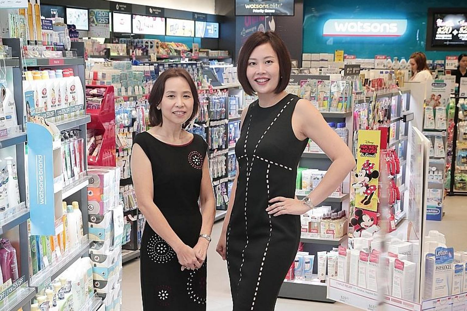 Watsons Singapore trading director Goh Choon Gek (left) and general manager Irene Lau say the drugstore industry continues to see many opportunities, despite the economic downturn and falling retail turnover figures.