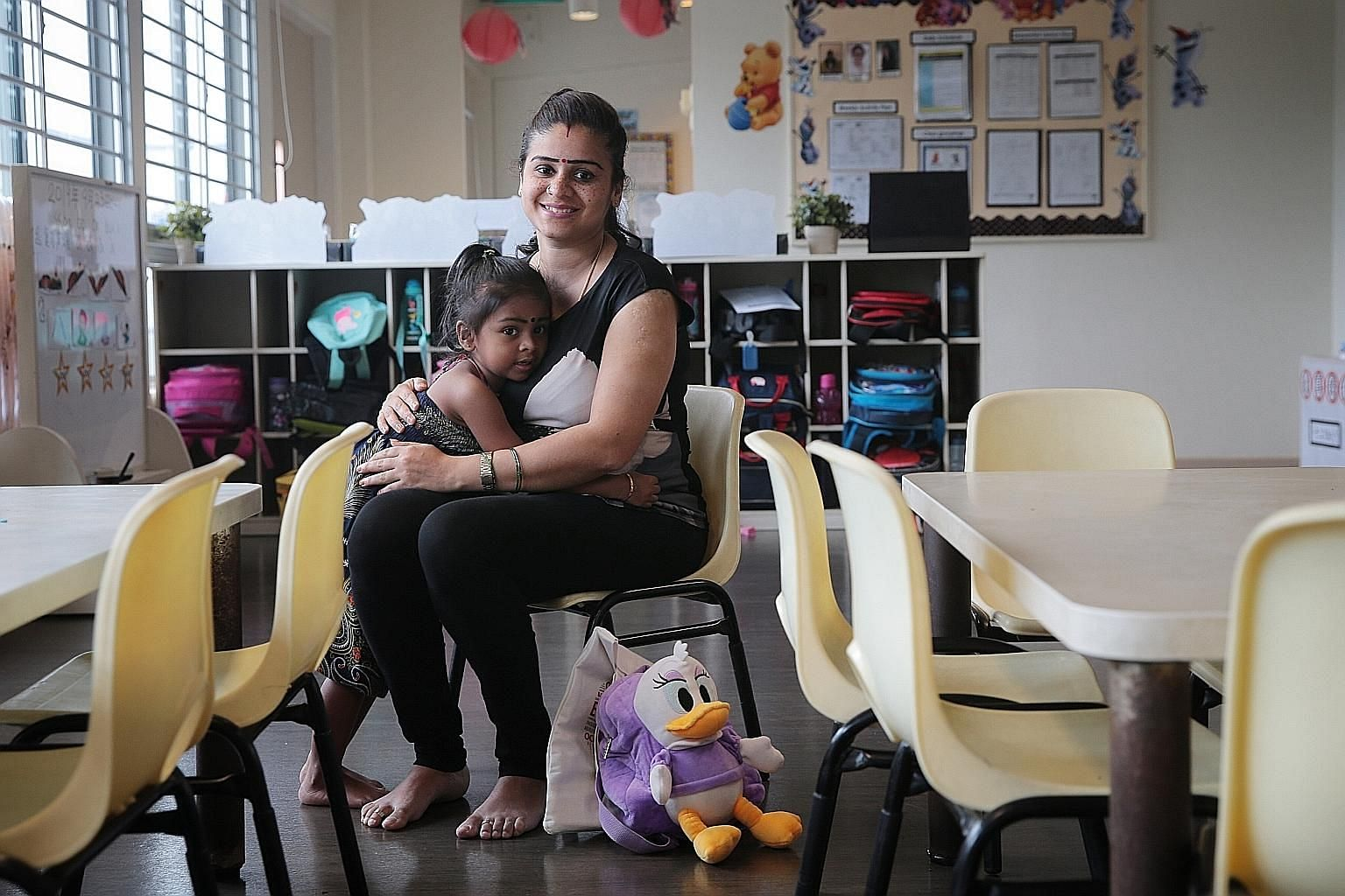 Madam Thaneswary Sangra Narayanan, whose daughter Tansikaa Letchumanan just turned three and is attending a My First Skool centre in Boon Lay, says more financial support will be a relief for her family. Monthly pre-school fees for her daughter cost