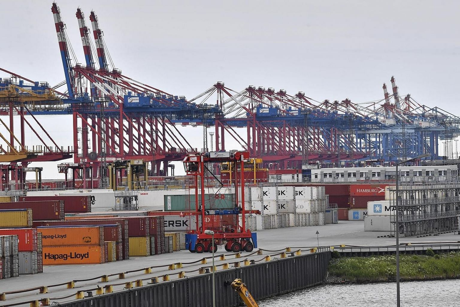 The free harbour in Bremerhaven, Germany. The German government said earlier that the country was not facing a bigger downturn or pronounced recession after contracting slightly in the second quarter. But several institutes have said that the economy