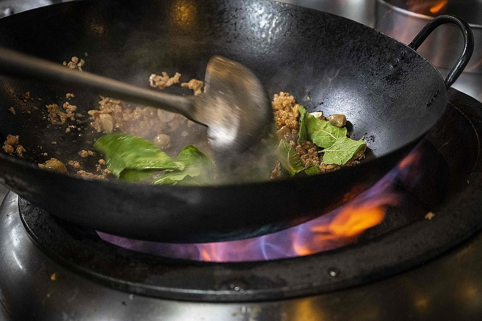 Experts agree that hawker stalls present the least problems when it comes to food poisoning - as their food is prepared on the spot, delivered steaming hot and consumed quickly, bacteria have less of a chance to multiply in it.