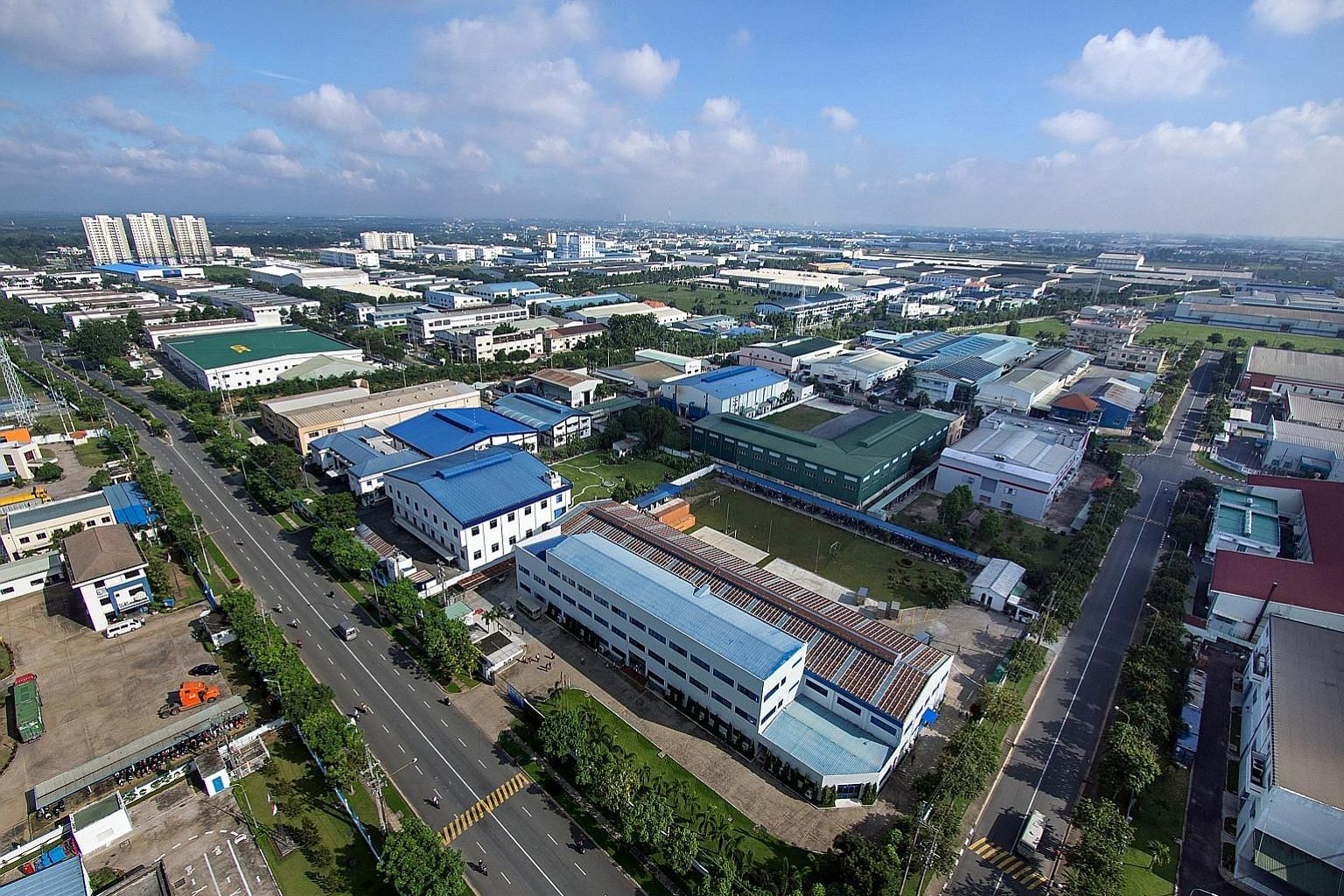 The Vietnam Singapore Industrial Park JV Co's portfolio consists of seven parks. The first is the 500ha Binh Duong I, launched in 1996. PHOTO: SEMBCORP DEVELOPMENT