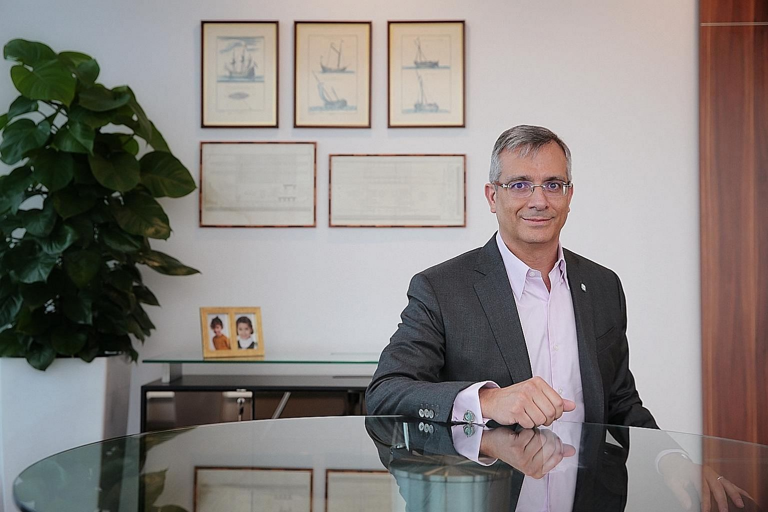 Pavilion Energy group chief executive Frederic Barnaud (left) sees the Singapore market as an important one as it has a location advantage for trading. The BW Pavilion Aranda (above) is a vessel that Pavilion Energy will charter on a long-term basis