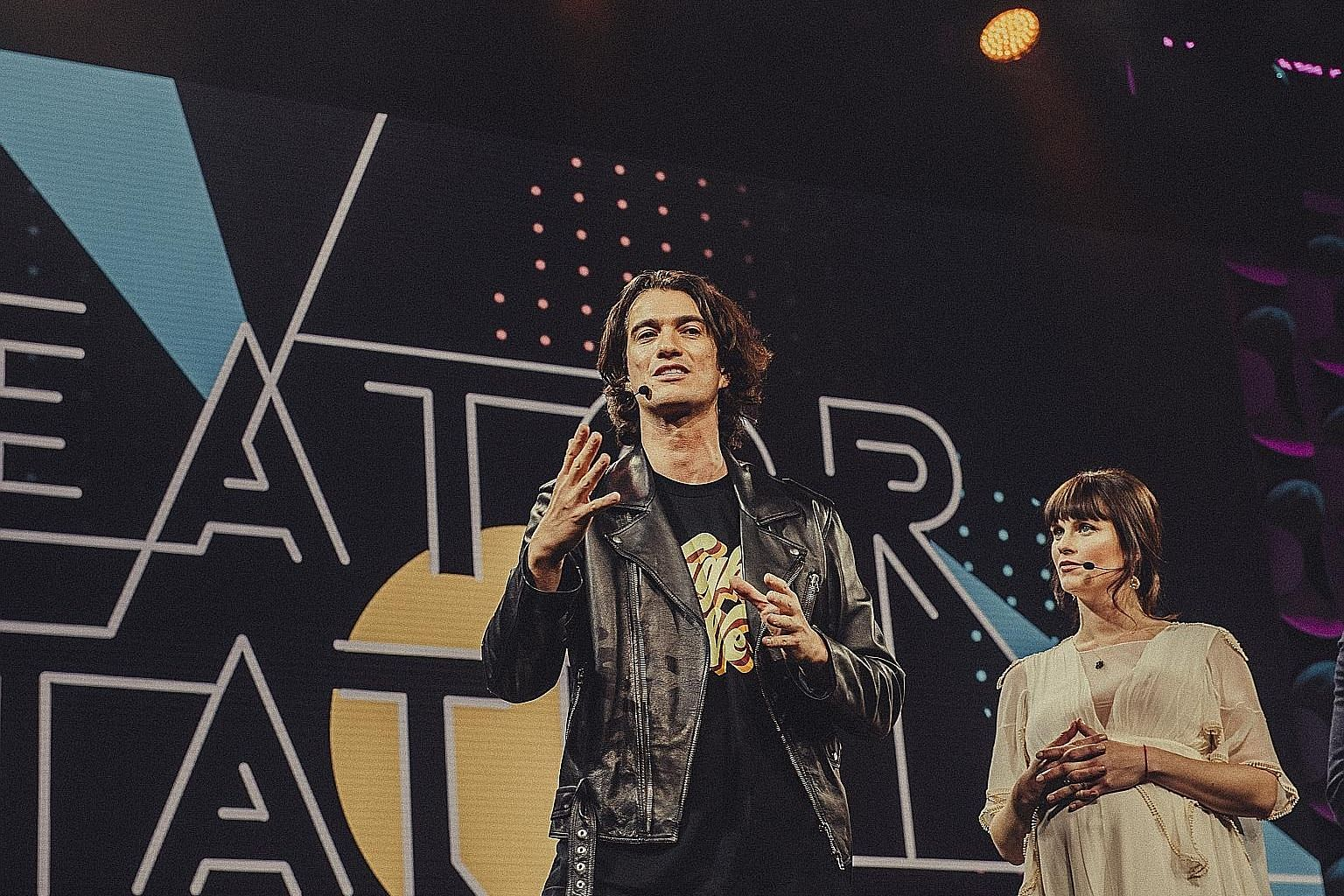 In this file picture from January last year, Mr Adam Neumann is seen with his sister Adi at the 2018 Creator Awards in New York. Mr Neumann, who co-founded WeWork, stepped down as chief executive officer on Tuesday under pressure from the board. He t