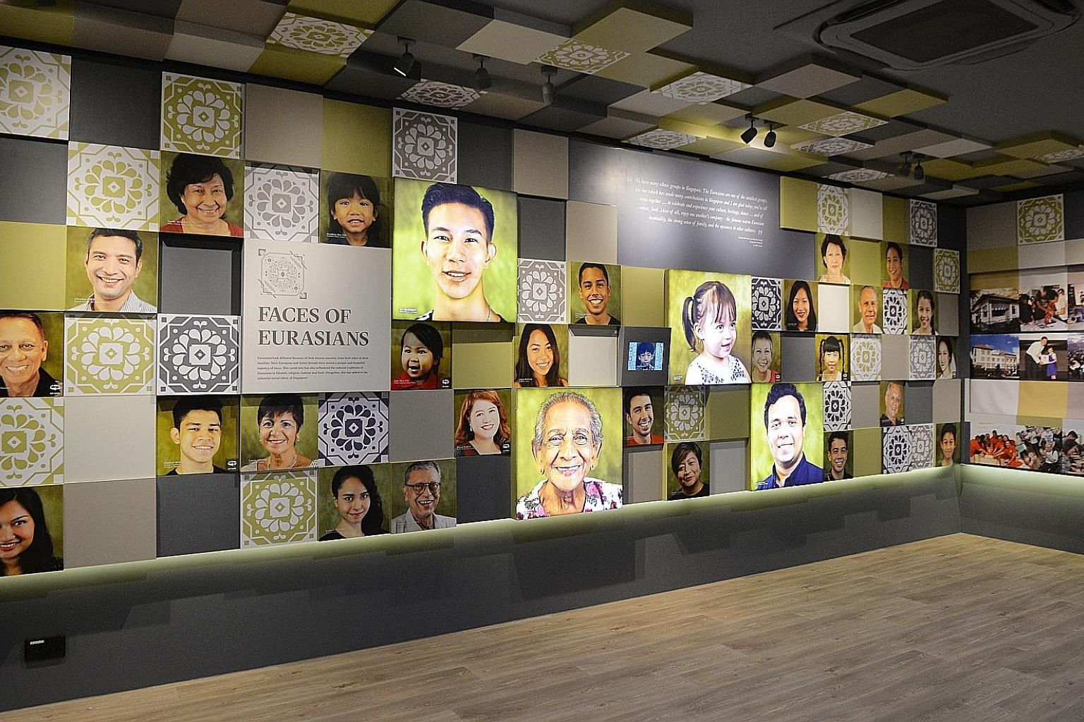 The new Eurasian Heritage Gallery, located at the Eurasian Association's headquarters in Ceylon Road, tells the community's story with 600 photos, artefacts, videos and audio recordings contributed by Eurasians in Singapore. Entry is free for Singapo