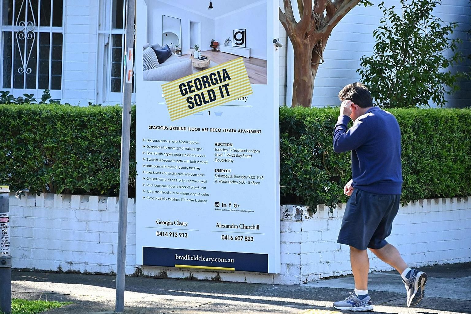 A sold sign displayed on a property in Sydney earlier this week. Australia's central bank on Tuesday lowered the cost of borrowing, slashing interest rates to 0.75 per cent amid fears about the flagging domestic economy.