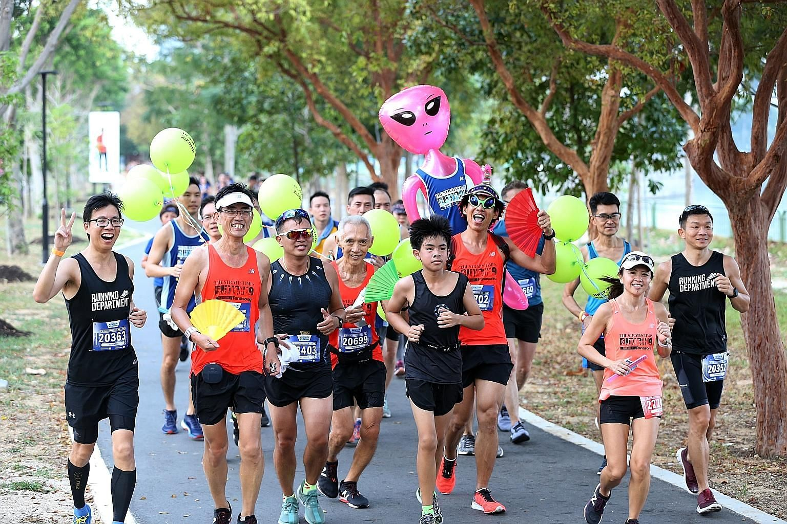 If you felt absolutely knackered at the end of The Straits Times Run and ran the second half of the race at least as fast as the first half, you would have maximised your performance. ST PHOTO: ONG WEE JIN
