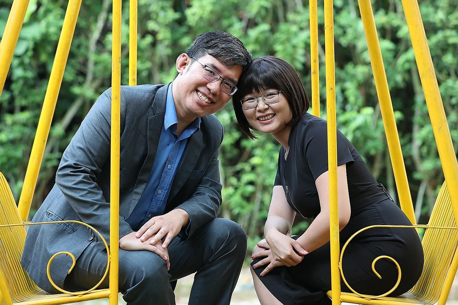 Mr Kelly Choo and Ms Jessie Tong first met at the National University of Singapore in 2004. ST PHOTO: TIMOTHY DAVID