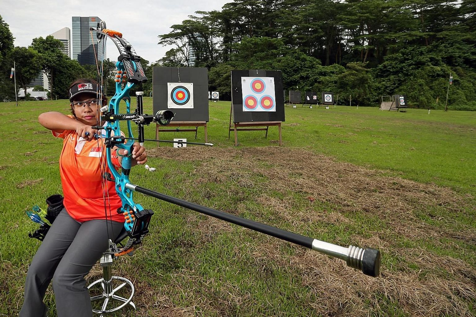 Nur Syahidah Alim, who won a gold in the World Archery Para Championships in June, is aiming for a podium spot at next year's Paralympics.