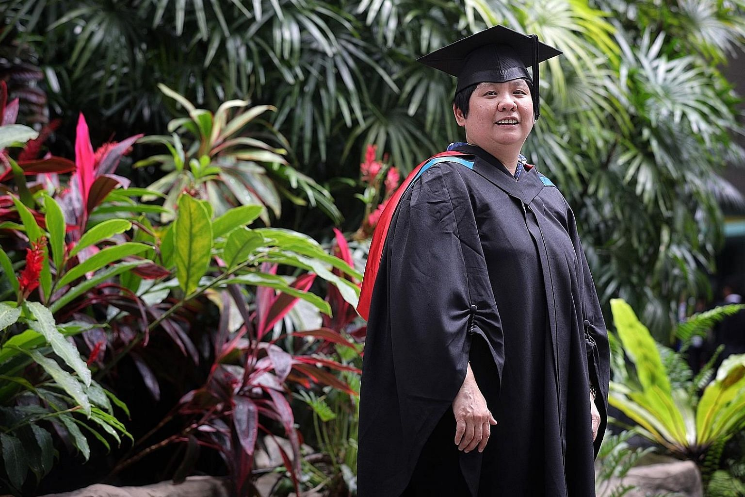 Ms Jean Ang, who is group general manager at Chop Hup Chong Food Industries, at her SUSS graduation ceremony yesterday.