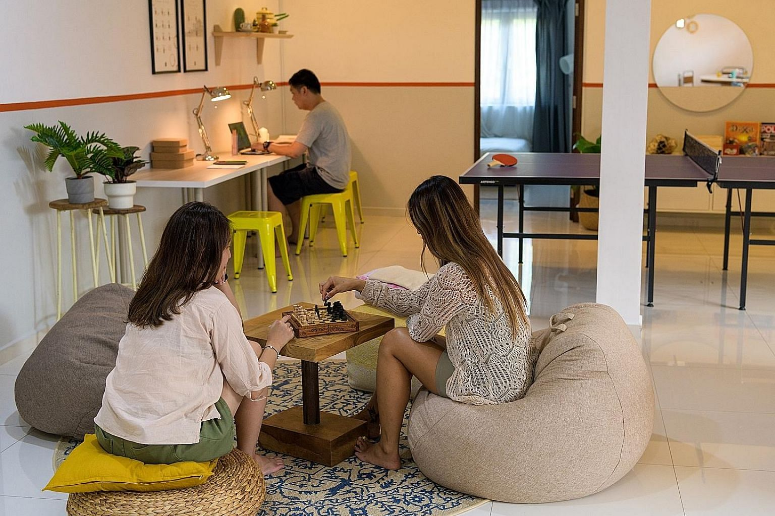 Co-living company Figment manages 10 boutique homes across Singapore with 50 beds, including this shophouse unit in Lorong 24A Geylang. Co-living company Commontown, which has 45 beds in six locations, opened its Sixth Avenue unit in Bukit Timah last