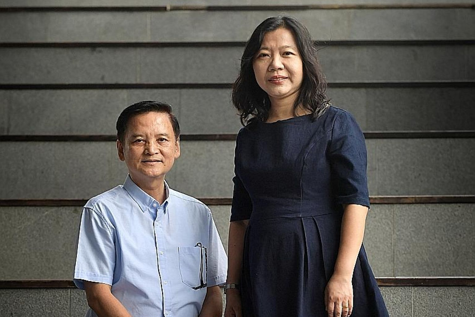 Mr Kelvin Quak, 60, with his wife, Madam Khoo Lay Hwa, 51. Mr Quak has remained free of drugs - and crime - for close to three decades, and is committed to helping others steer clear of them as a social worker with the Methodist Missions Society. ST