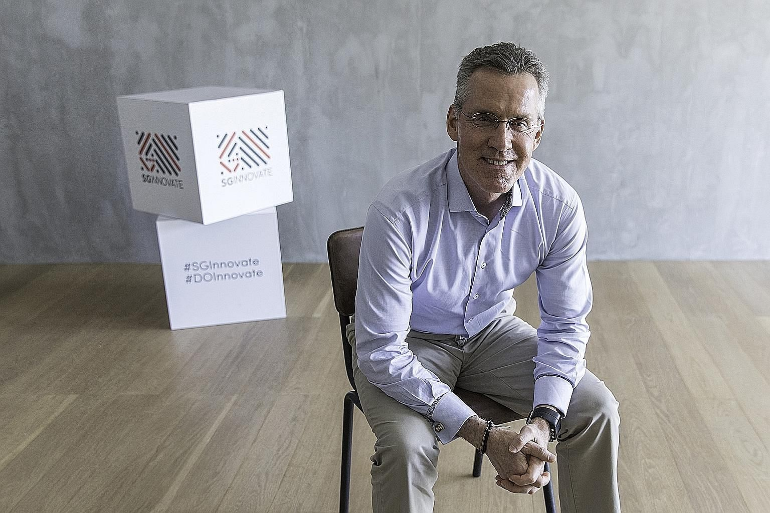 SGInnovate's founding chief executive Steve Leonard says that besides nurturing start-ups, the government-owned venture firm, set up almost three years ago, has also built up a 30,000-member deep-tech community. PHOTO: SGINNOVATE