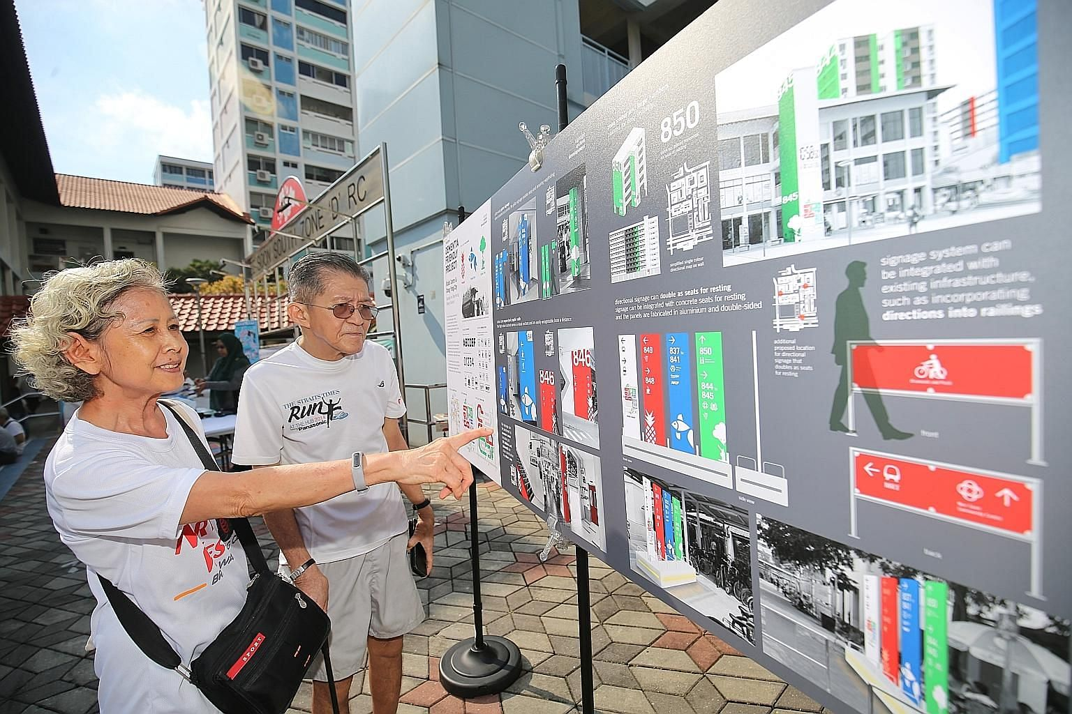 Madam Yong Fui Yin and her husband Ho Shien Joo, who was diagnosed with mild dementia in January, are looking forward to the new features in their Nee Soon South neighbourhood.
