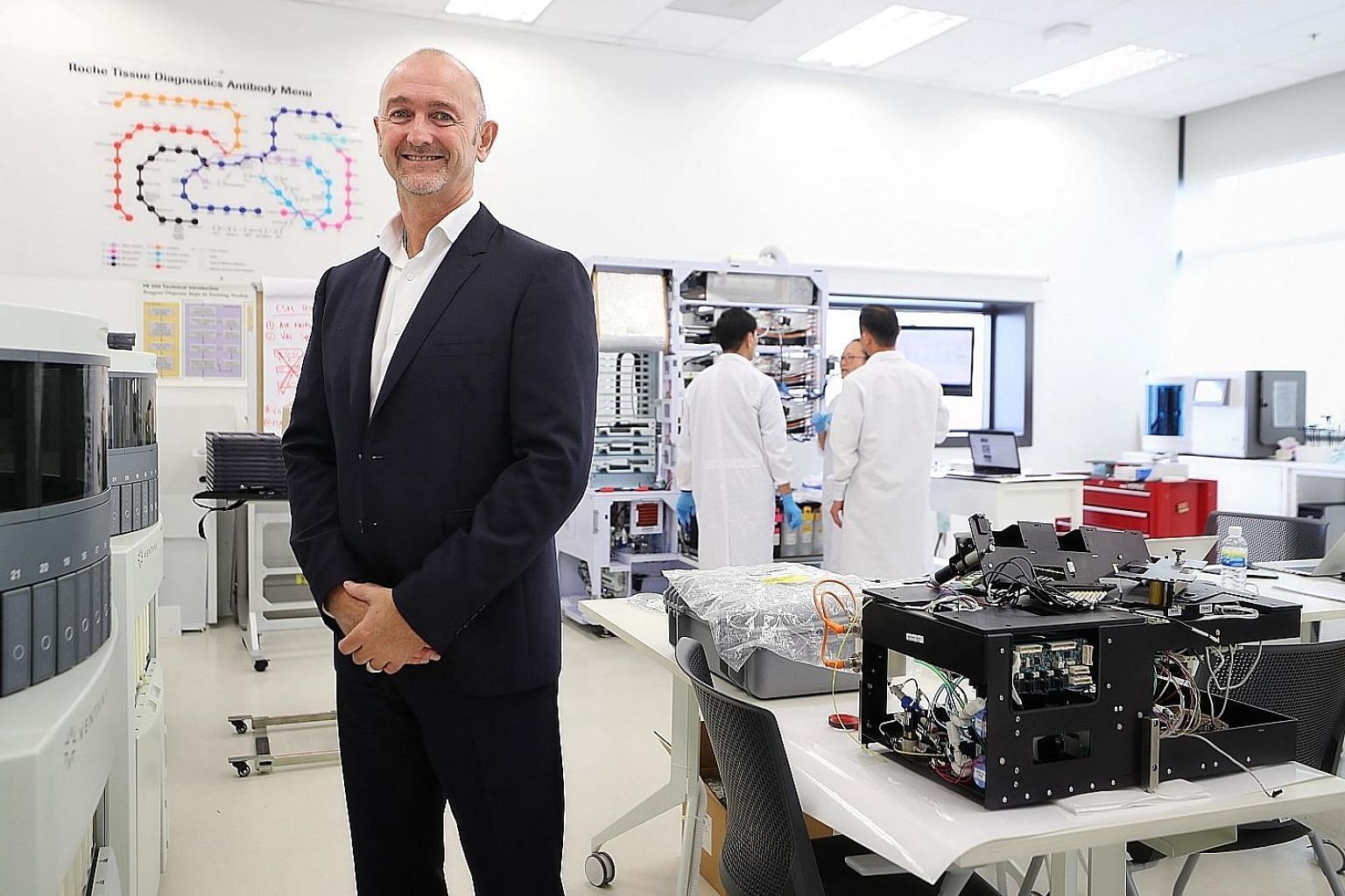 Mr Lance Little, managing director of Roche Diagnostics Asia Pacific, says there are many new start-ups that can add value to the healthcare environment, but that they face challenges when taking their ideas to market. In that connection, multination