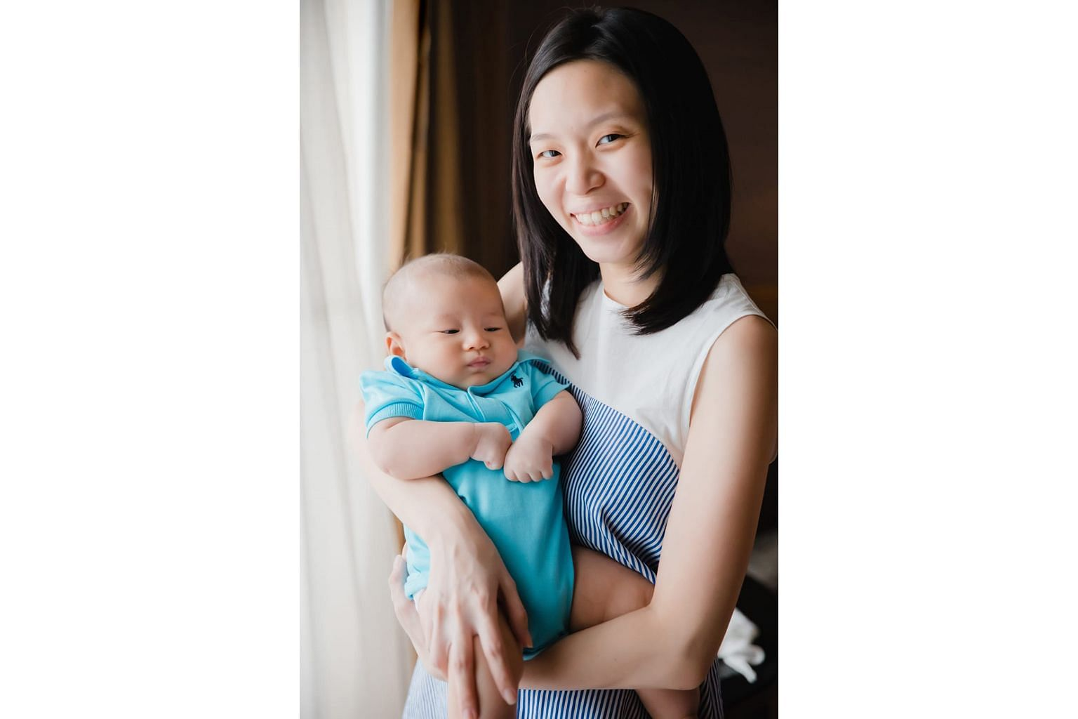 Ms Evelyn Koh Ai-Ping had painful engorged breasts after giving birth, but with tips and support from a lactation consultant, she now enjoys breastfeeding her son.