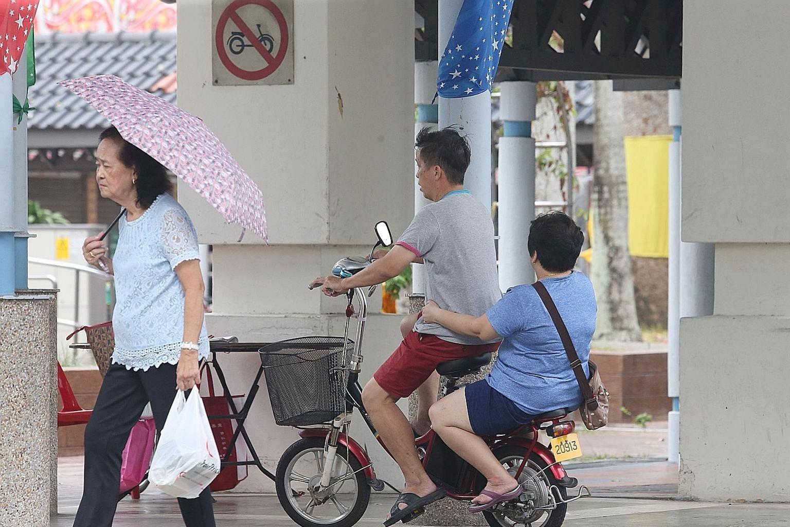 The latest data comes from the first update by the 15 PAP-run town councils since the ban kicked in on Sept 1. These town councils prohibit the riding of PMDs in areas such as void decks and common corridors.
