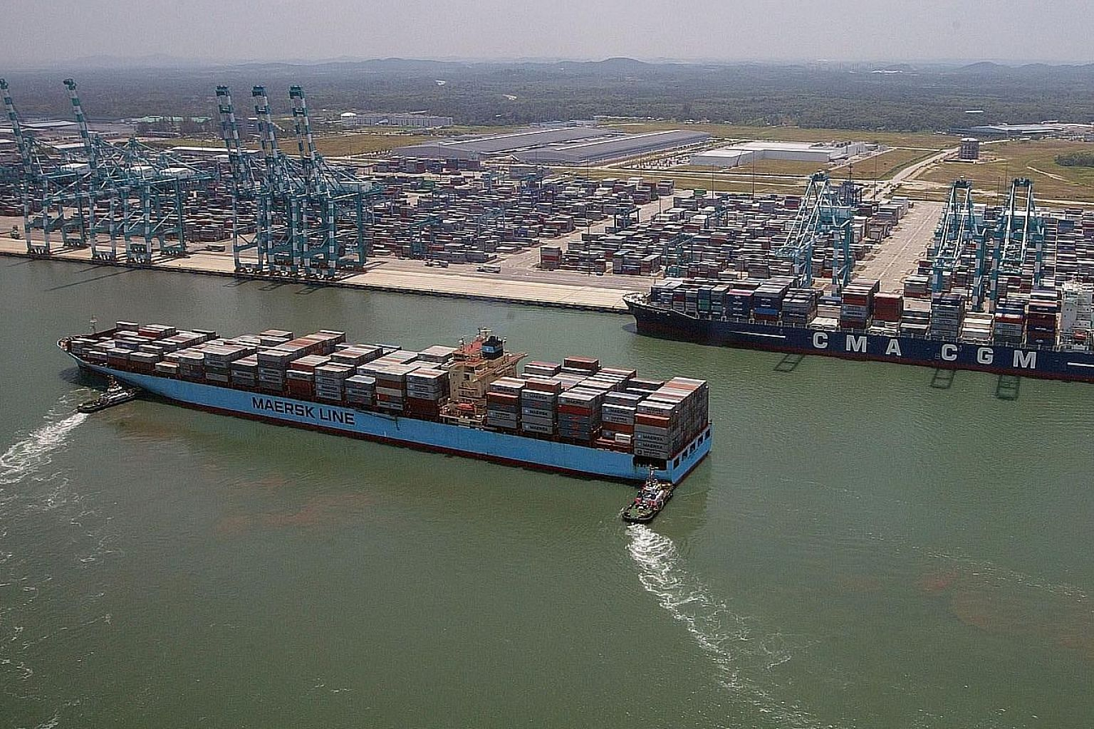 The Port of Tanjung Pelepas has a current capacity of 12.5 million TEUs. It is seeking to accommodate 30 million TEUs by 2030. PHOTO: THE STAR/ASIA NEWS NETWORK