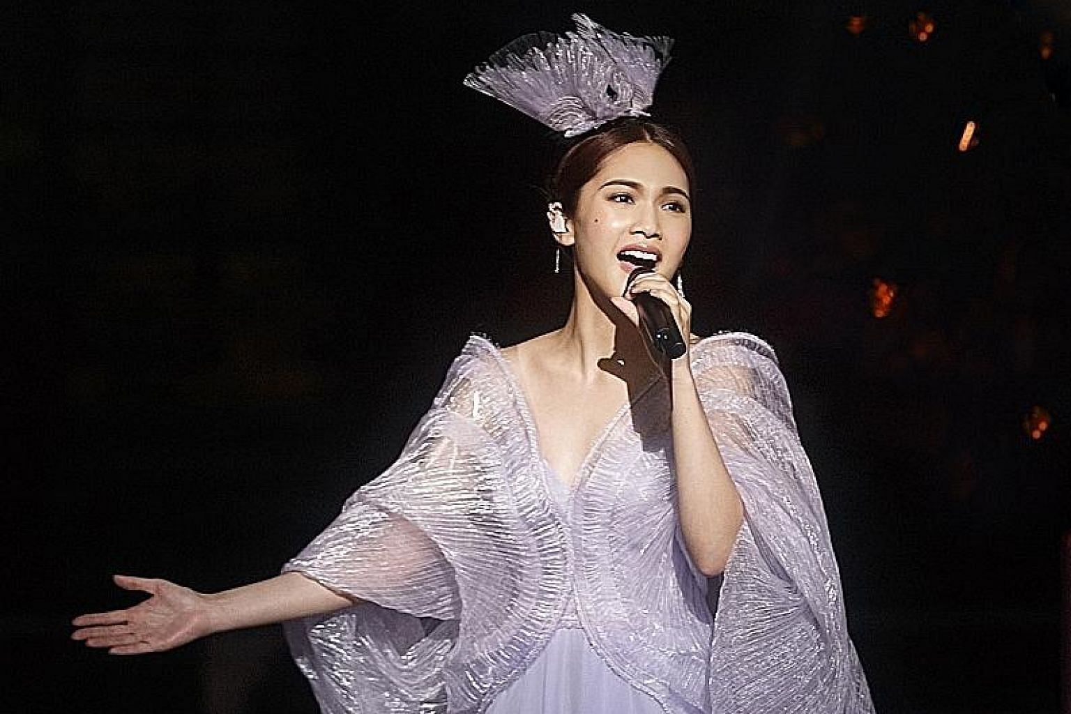 Taiwanese star Rainie Yang said she has given creative input for her show here and hopes to showcase more aspects of herself.