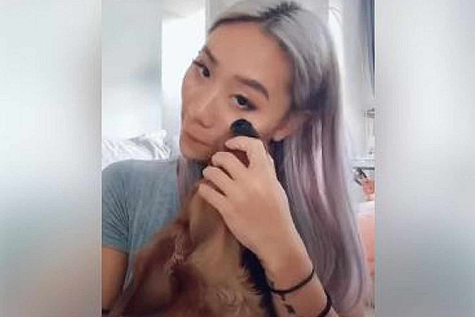 IT'S A DOG'S LIFE: Animal lovers have barked their disapproval over how singer-actress Sandra Riley Tang applies make-up. In a Tik Tok video posted in an animal lovers' group on Facebook, the member of Singapore pop outfit The Sam Willows is seen app