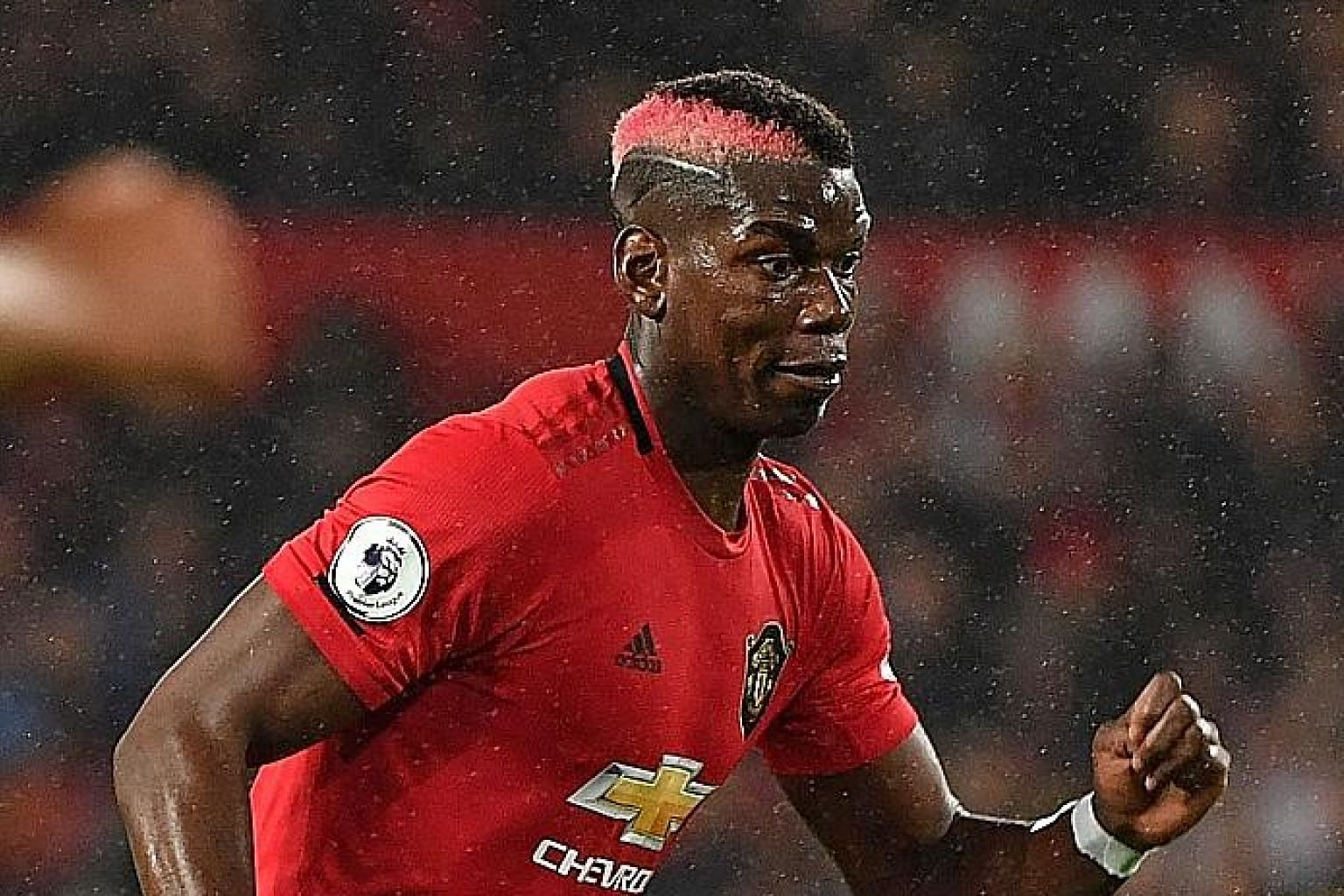 Manchester United's Paul Pogba appears to have lost the race to be fit for Liverpool's visit on Sunday. PHOTO: AGENCE FRANCE-PRESSE