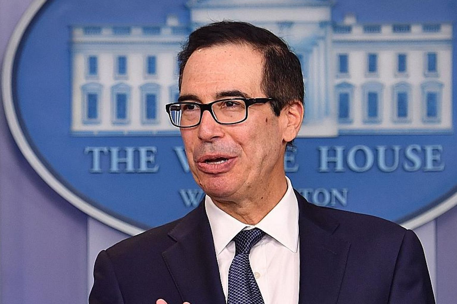 US Treasury Secretary Steven Mnuchin said US and Chinese negotiators are working on nailing down a Phase 1 trade deal text for their presidents to sign next month, adding that he was prepared to travel to Beijing for more meetings if necessary.