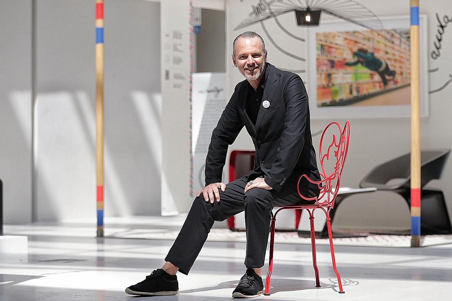 Mr Jean-Paul Bath (above) is chief executive of le French Design by VIA, which created the exhibition. The show highlights French design, including the Break stool by Singaporean industrial designer Nathan Yong, which was picked up by French label Ligne R