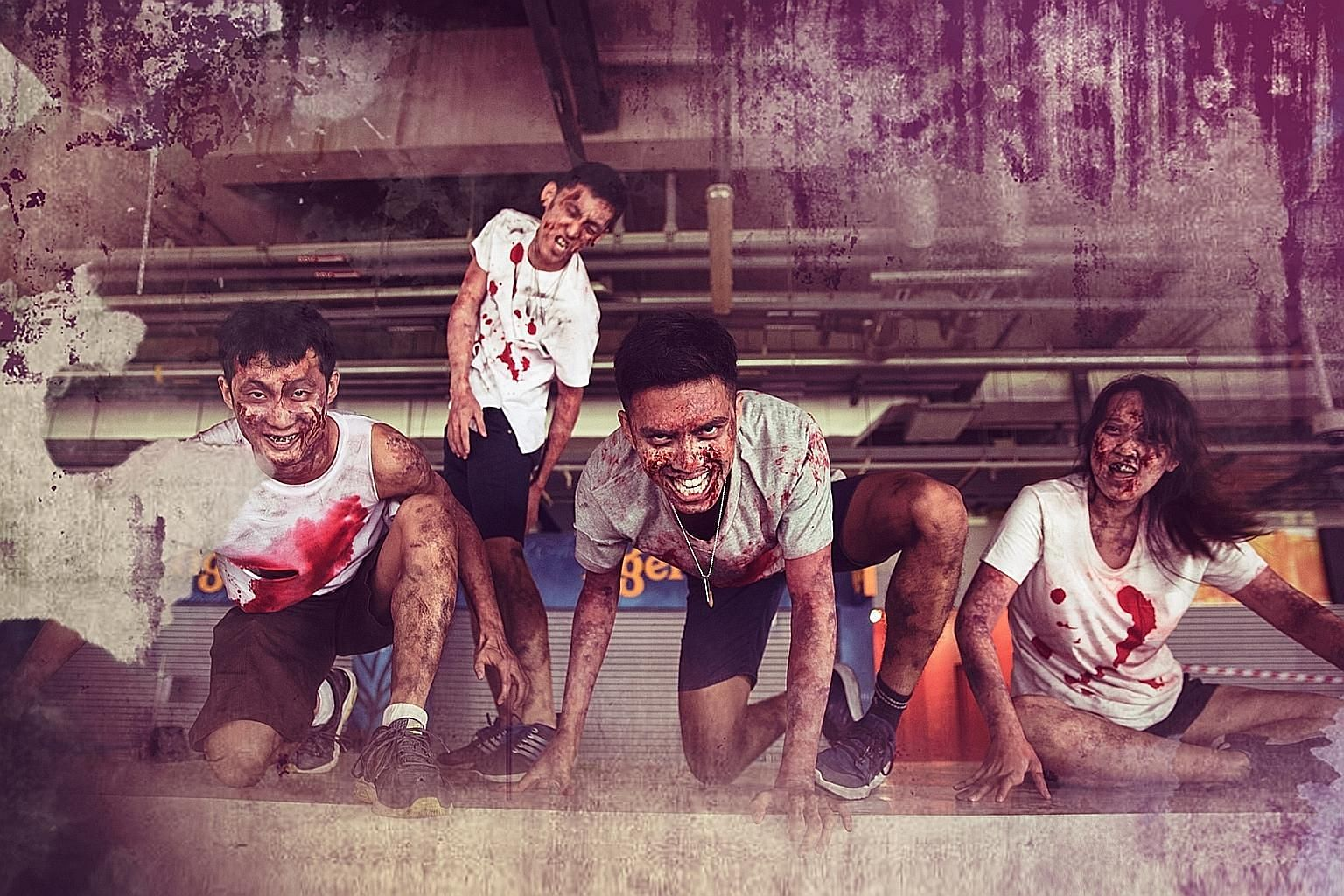 Zedtown is an immersive live-action survivor versus zombie game. In Zedtown Asia: Battle for Singapore, the city is overrun by zombies and players have to fight the undead, armed with Nerf blasters.