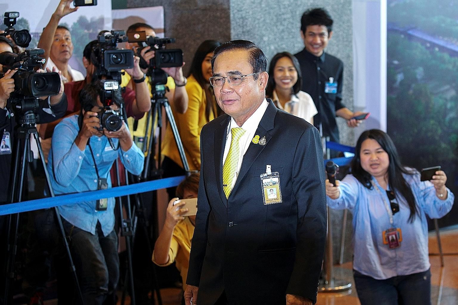 Thailand's Prime Minister Prayut Chan-o-cha in a July photo. Parliament voted to pass the budget Bill last Saturday after an intense three-day debate. The $144 billion Bill is the biggest in Thailand's history.