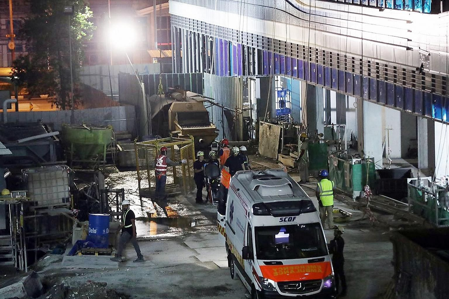 The scene of an industrial accident at a construction site in Minto Road in February last year. The new rules, which require stakeholders to be consulted on the draft learning report, formalise the learning report framework and incorporate feedback f