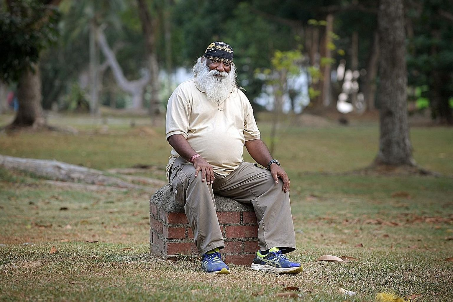Mr Subaraj Rajathurai, seen here in a photo taken last month, died of a heart attack during a nap on Tuesday. He was well known for being an outspoken advocate for Singapore's native wildlife.