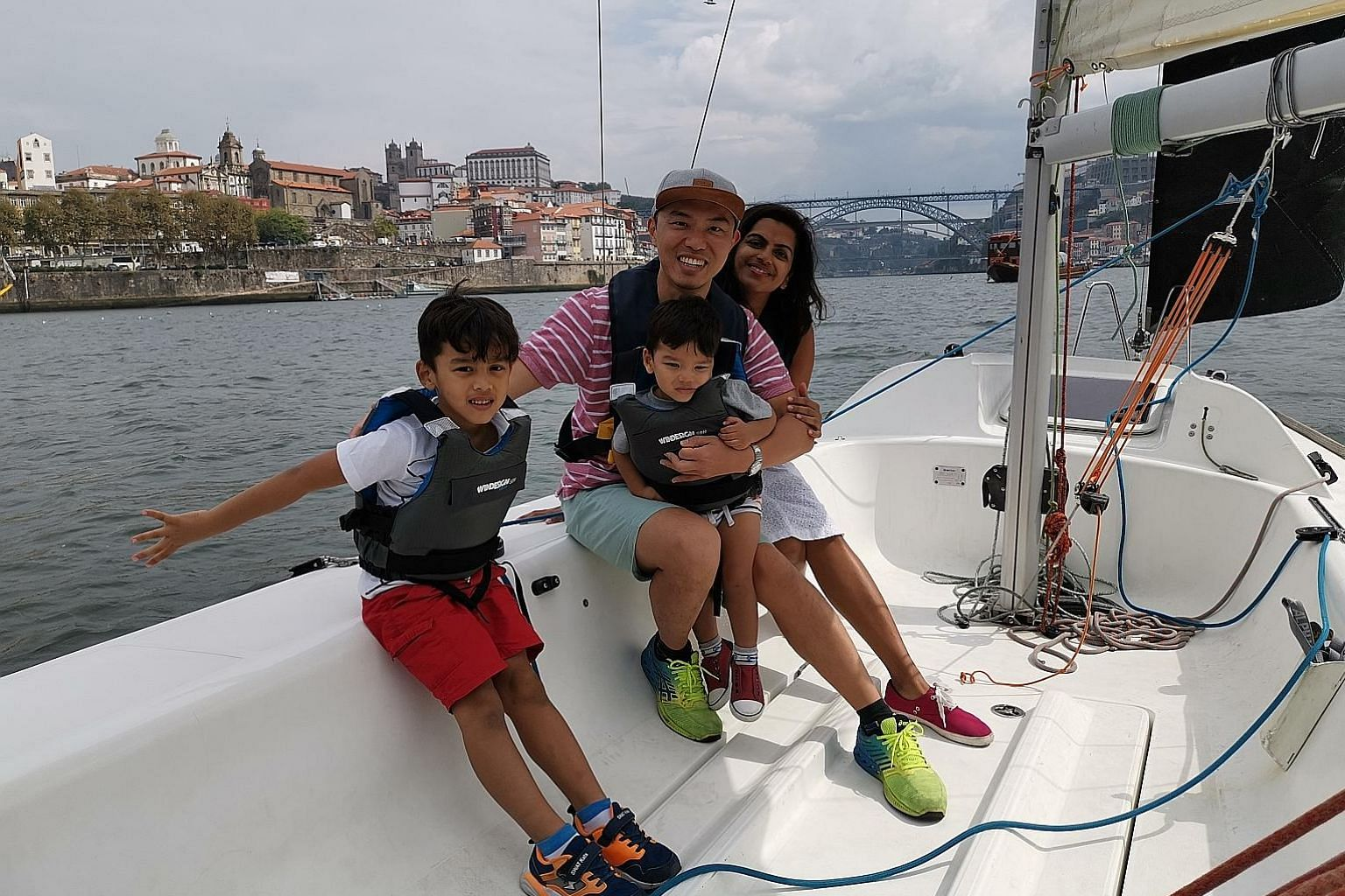 Mr Chan Jun Hwa and his wife Kamenii Puru, both 34, are now travelling the world for a year with their two young sons after saving about 70 per cent of what they think they would need to retire early.