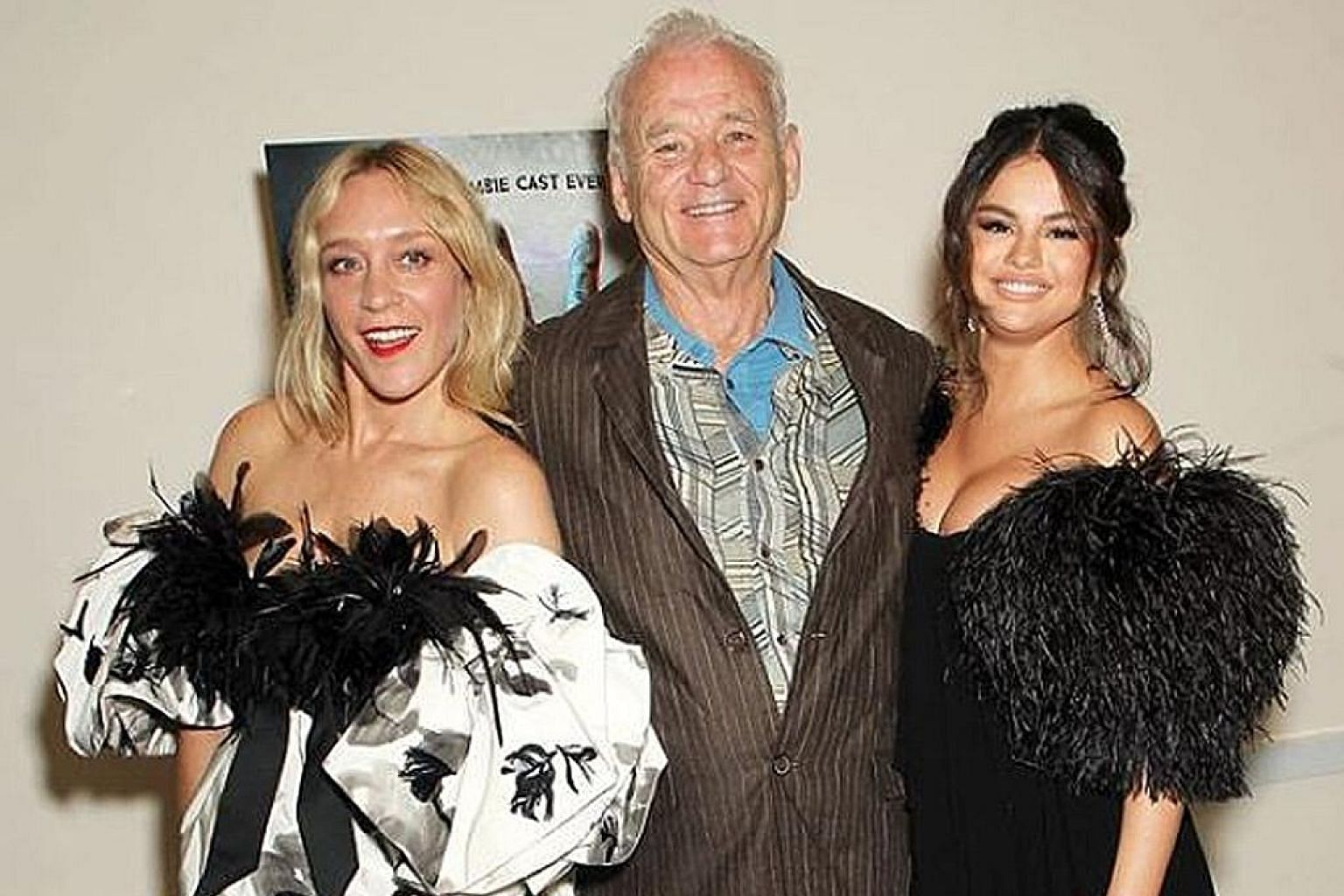 WOK ON: Does actor-comedian Bill Murray (centre, with The Dead Don't Die cast members Chloe Sevigny, far left, and Selena Gomez) really need to work in a restaurant to make ends meet? He told Amy Schumer in her recent podcast, 3 Girls, One Keith, tha