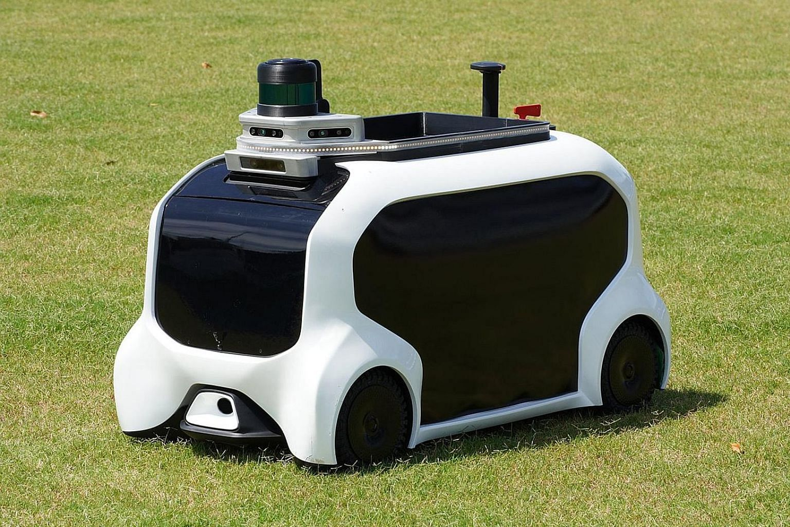Toyota is deploying hydrogen fuel cell Sora buses (above) and the e-Palettes (right) to shuttle visitors between venues during the Games next year. Toyota will use field support robots to retrieve thrown javelins during the Tokyo Olympics and Paralym