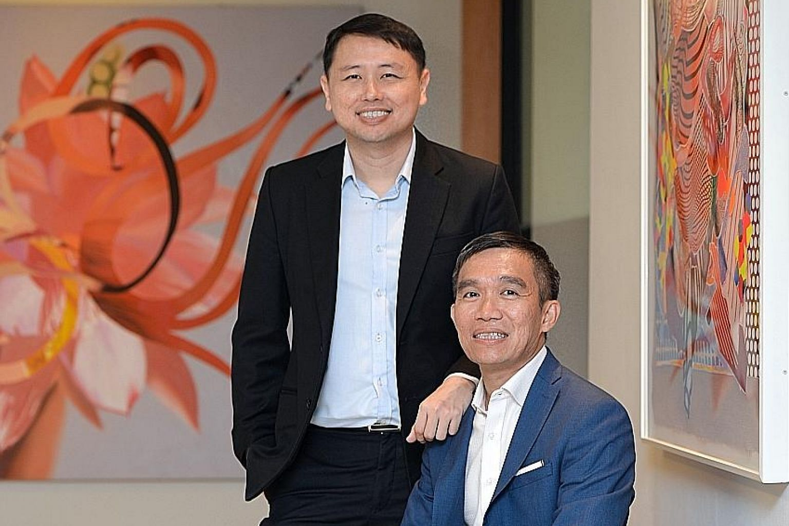 Astral Asset Management co-founders Sean Mah (standing) and Lee Kian Soon believe that investing is more an art than a science.