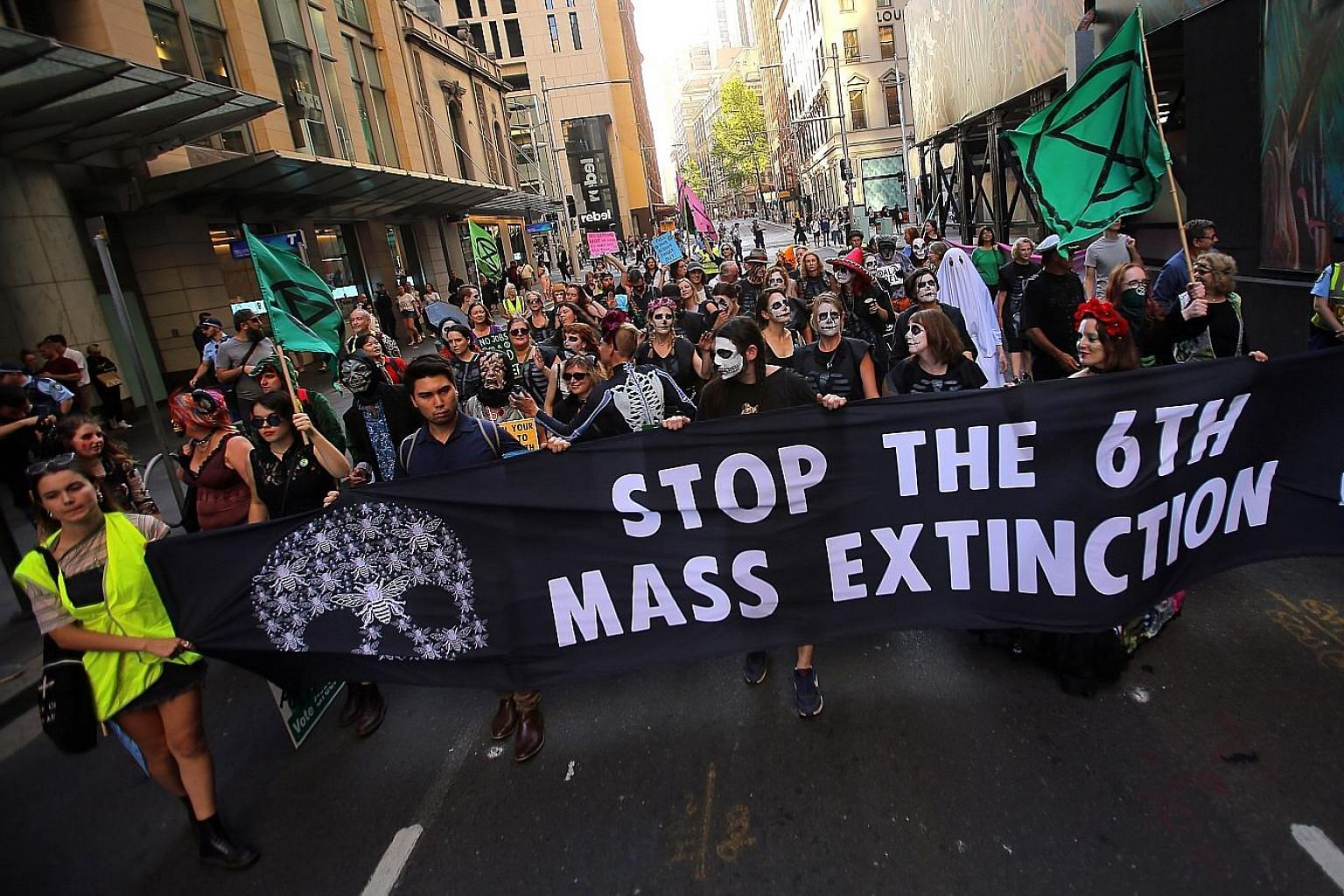 Protesters at an Extinction Rebellion rally in Sydney on Oct 31. It is not just activists who are concerned about the climate emergency; now, 11,258 scientists have put their names behind a declaration to that effect as well. Far from being alarmist,