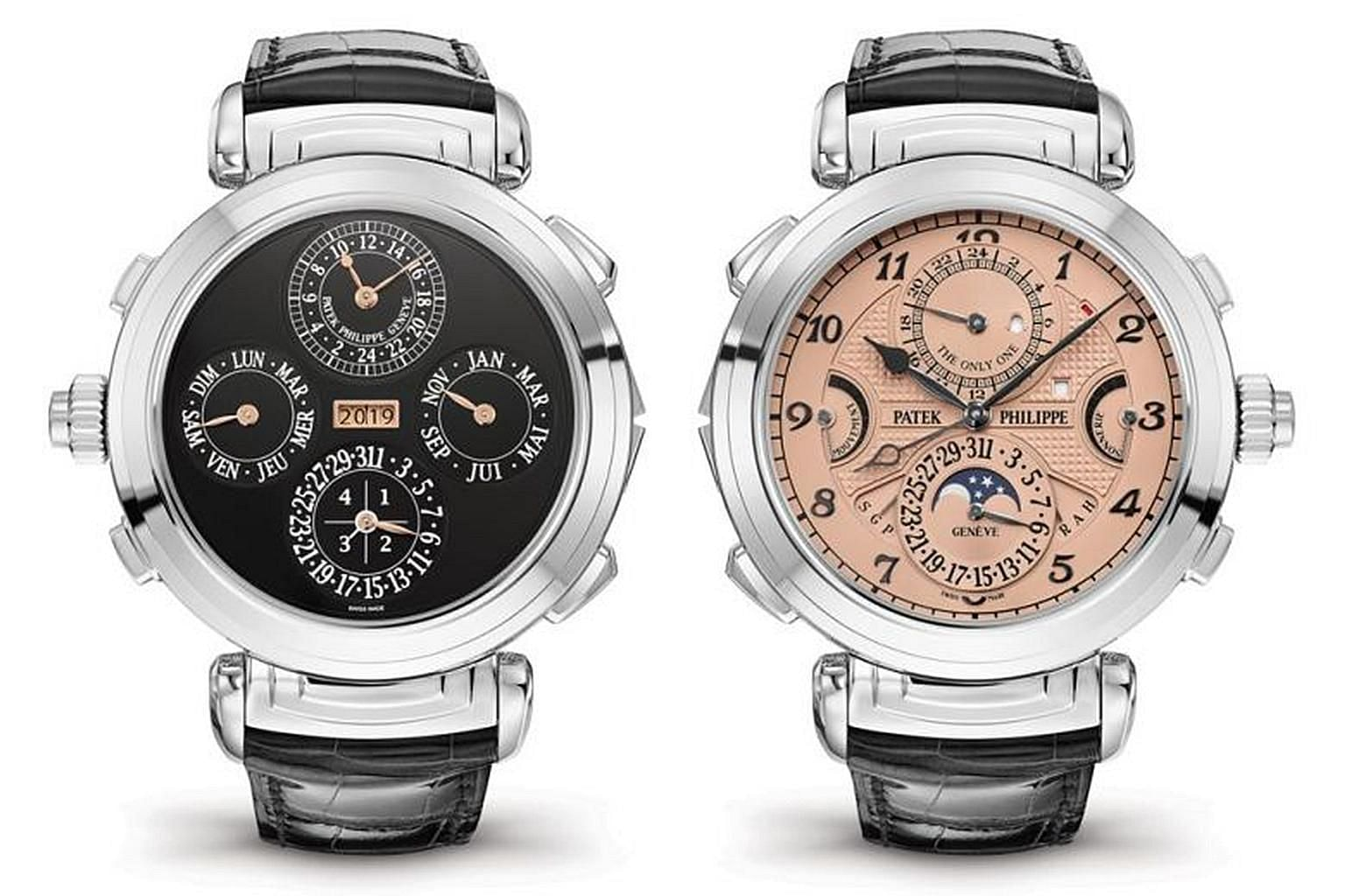 The Patek Philippe steel Grandmaster Chime has two dials, the other is on the back, and 20 special functions. It was sold last Saturday at an event called Only Watch.