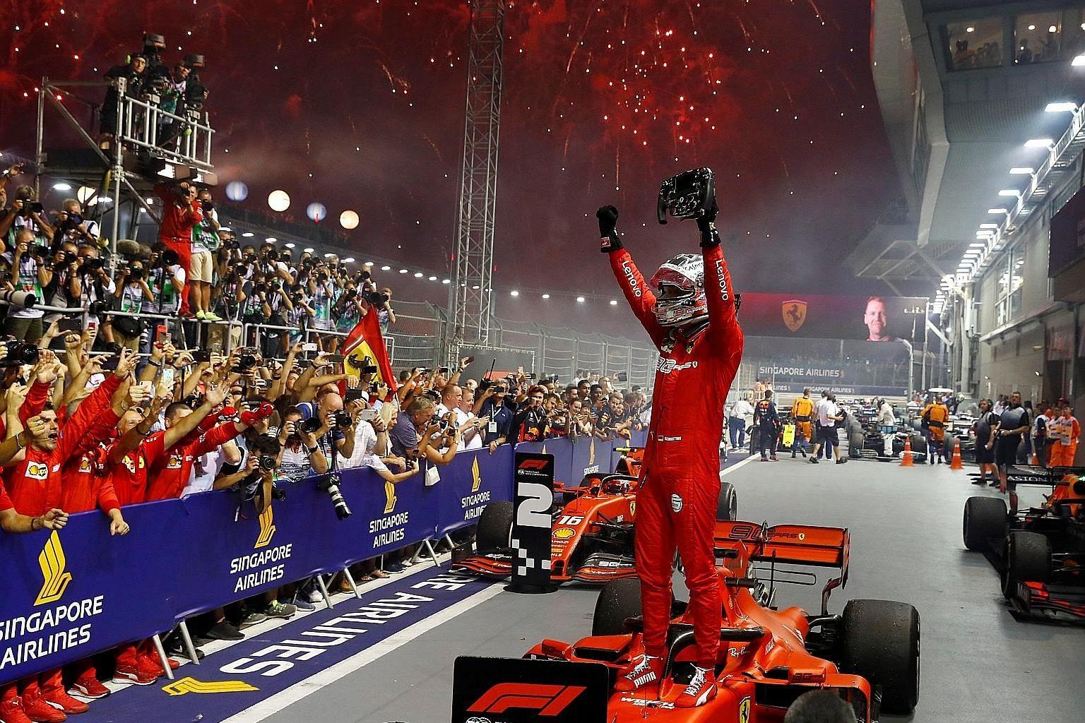 """This year's Singapore Grand Prix led to an uptick in visitor arrivals, which supported retail sales figures for September, said Maybank Kim Eng economist Lee Ju Ye. """"Consumer sentiment may be past the worst, with September numbers showing some improv"""