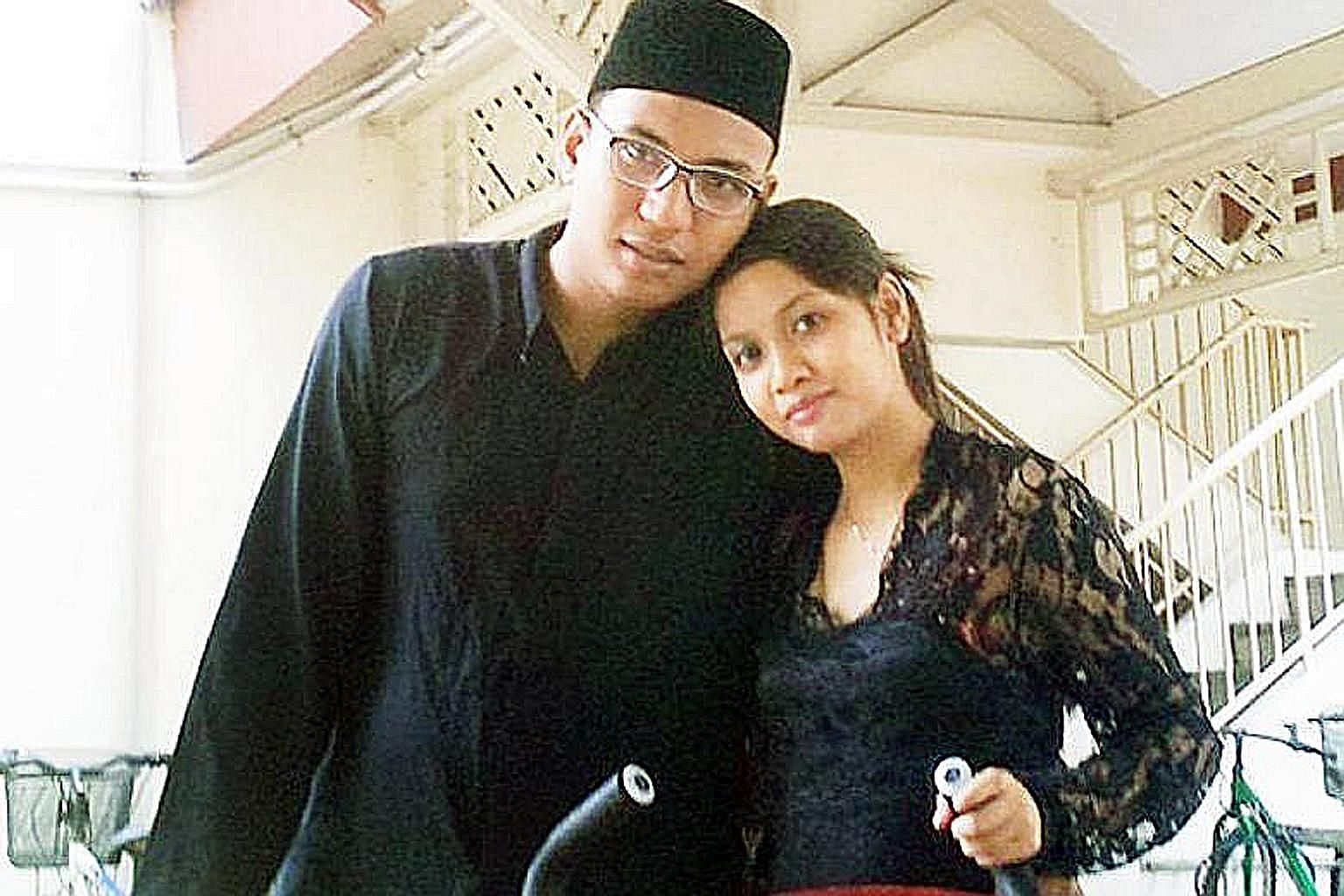 Azlin Arujunah and her husband Ridzuan Mega Abdul Rahman, seen here in a photo posted on social media, are on trial for murder by common intention, for inflicting severe scald injuries on their son.