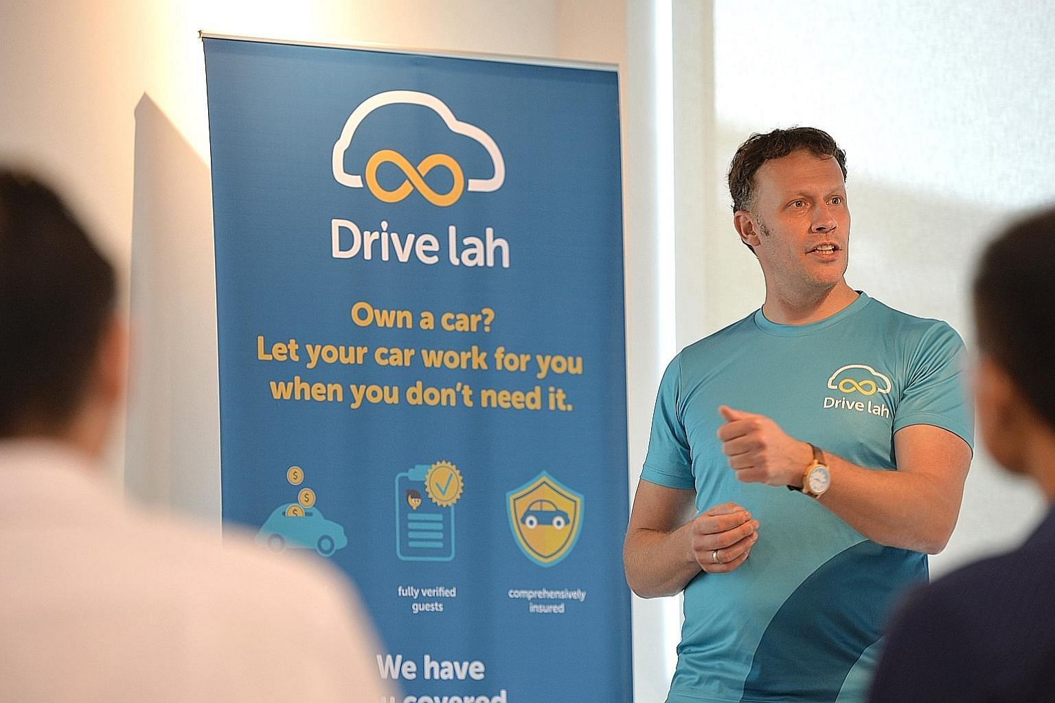 Entrepreneur Dirk-Jan ter Horst came up with the idea of Drive lah, which was launched in June.