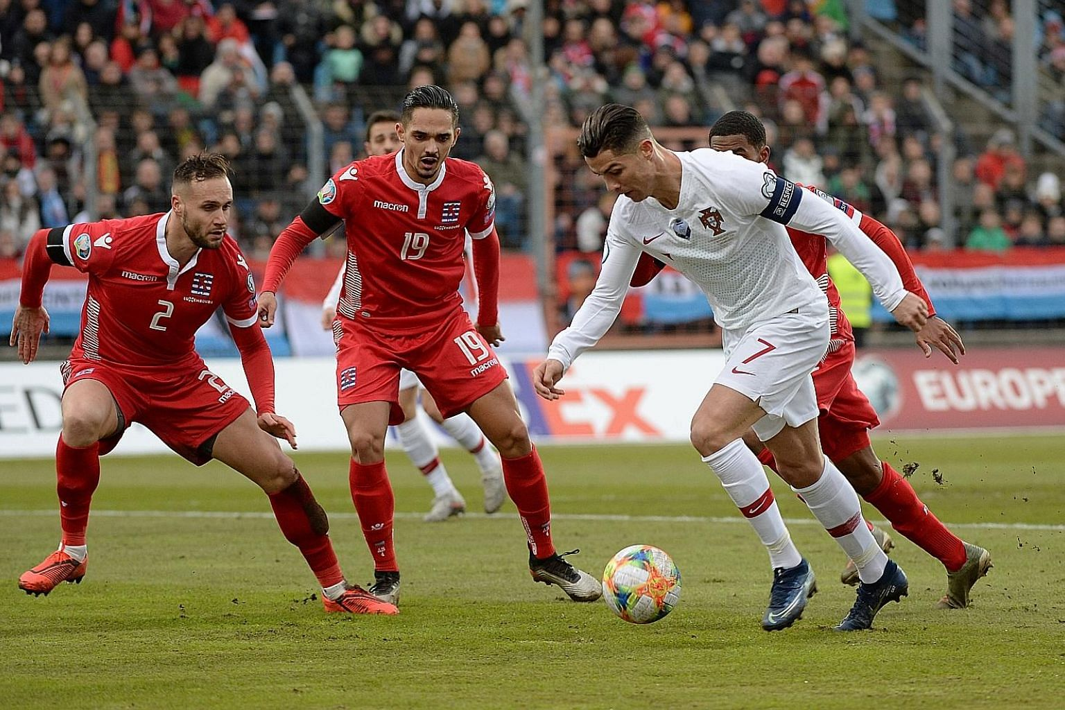 It was a mixed day for Portugal captain Cristiano Ronaldo, who is now agonisingly one short of a century of international goals even as he helped his country secure a spot at next year's European Championship with a 2-0 away win over Luxembourg. The