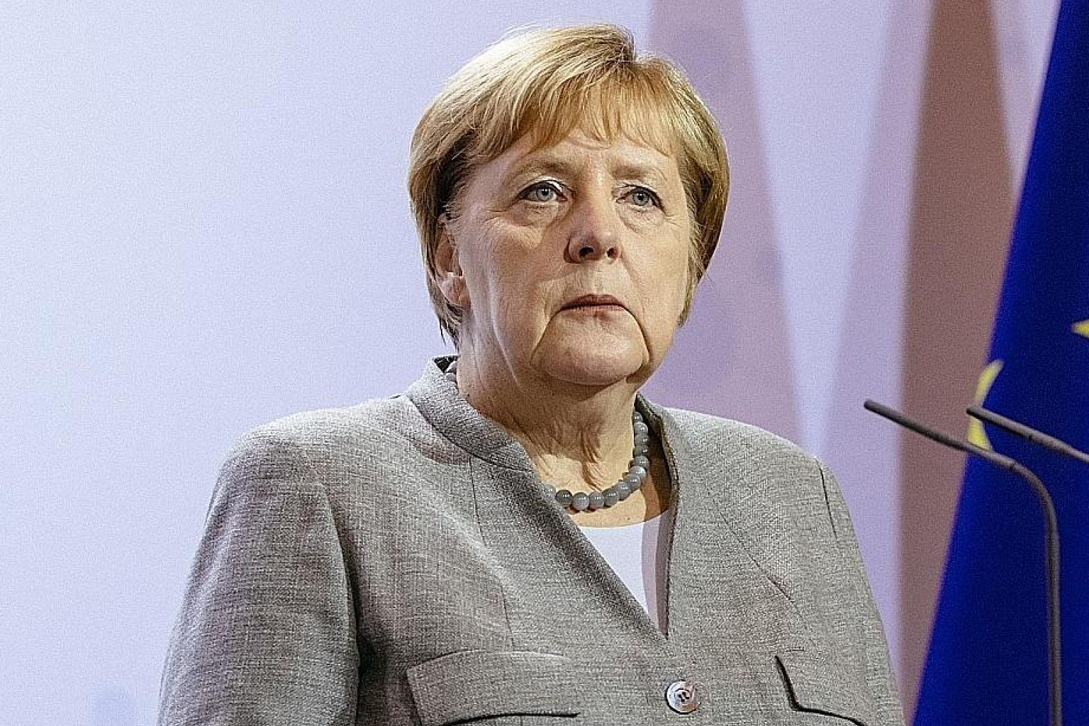 Never before has criticism against Dr Angela Merkel, who has been in power since 2005, been so vocal, says the writer.