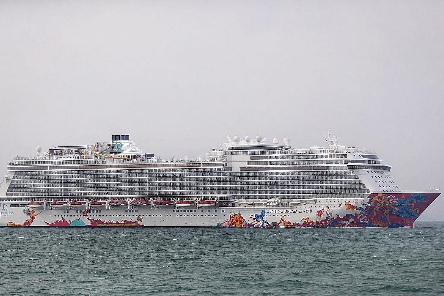 A photo of the Genting Dream cruise ship taken earlier this year. Despite a medical team on the ship providing assistance, including cardiopulmonary resuscitation, the boy could not be revived, said a spokesman for Dream Cruises. ST PHOTO: GAVIN FOO