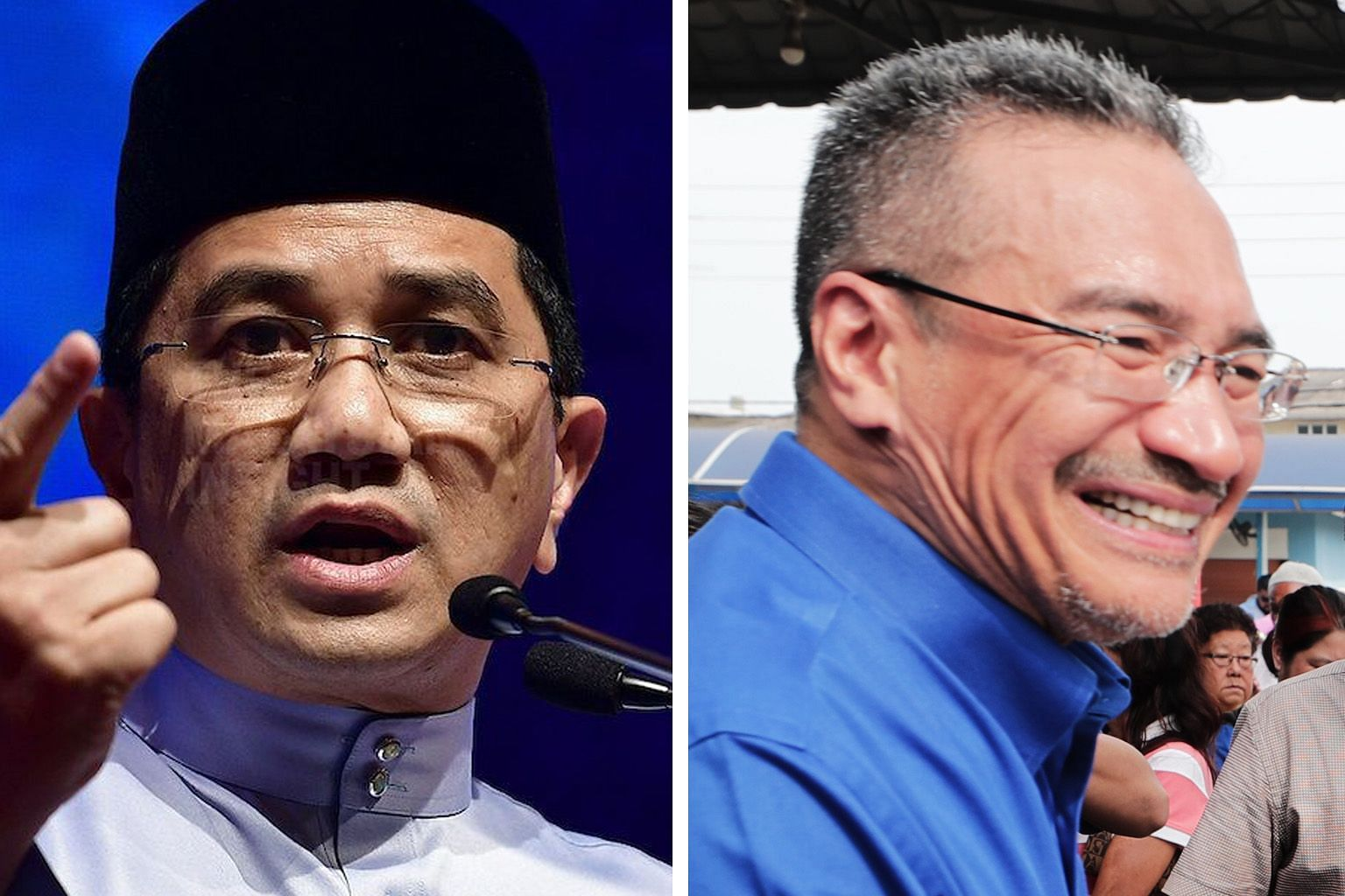 Former Umno vice-president Hishammuddin Hussein (left) and PKR deputy president Azmin Ali (right) said the dinner meeting on Monday was an innocent gathering of friends.
