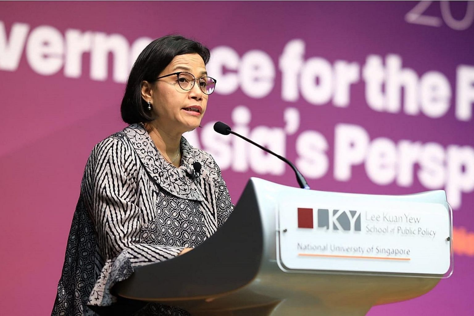 Indonesian Finance Minister Sri Mulyani Indrawati also cited instant access to data as a challenge for leaders.