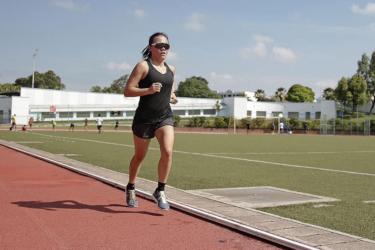 After injury robbed Herlene Yu of a shot at last year's Youth Olympic Games, the 17-year-old is targeting medals in both the triathlon and duathlon mixed relays at the SEA Games. ST PHOTO: JEREMY KWAN