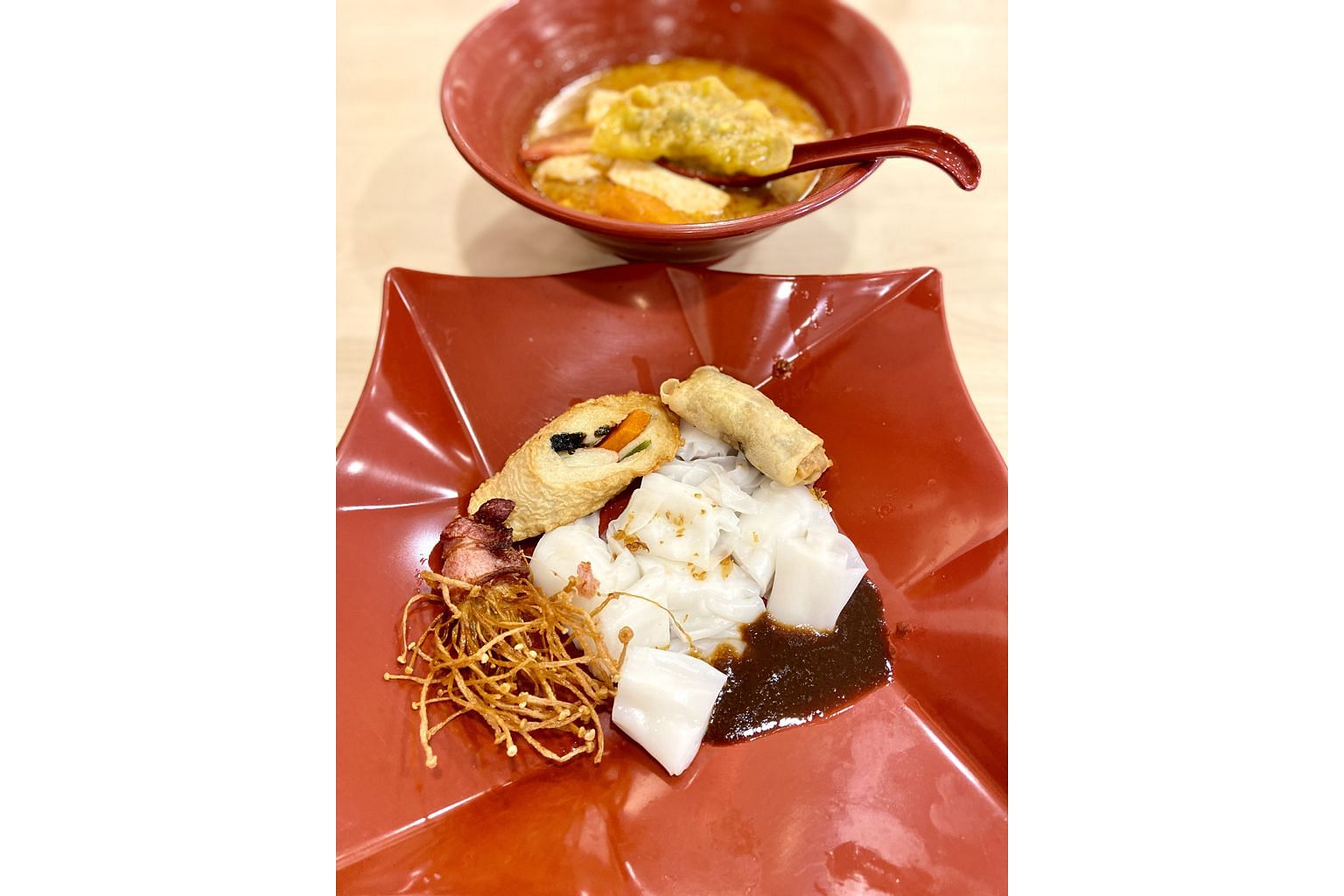 You can pair your yong tau foo at Fong Yong Tau Foo with chee cheong fun.